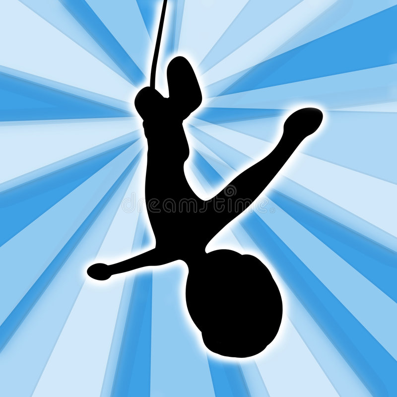 Bungee Jumping vector illustration