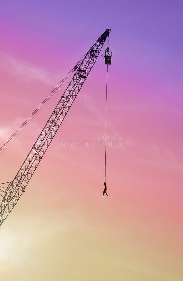 Bungee jumping fotografia stock