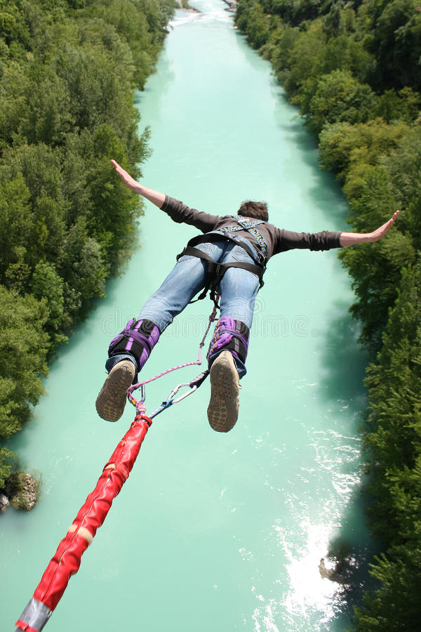 Bungee jumping stock photos