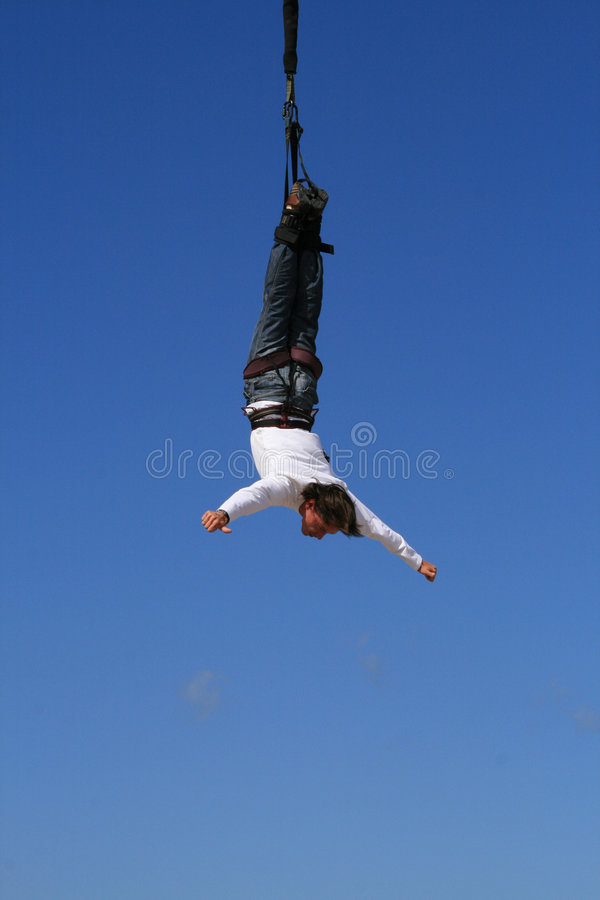 Bungeejumping royalty free stock photos