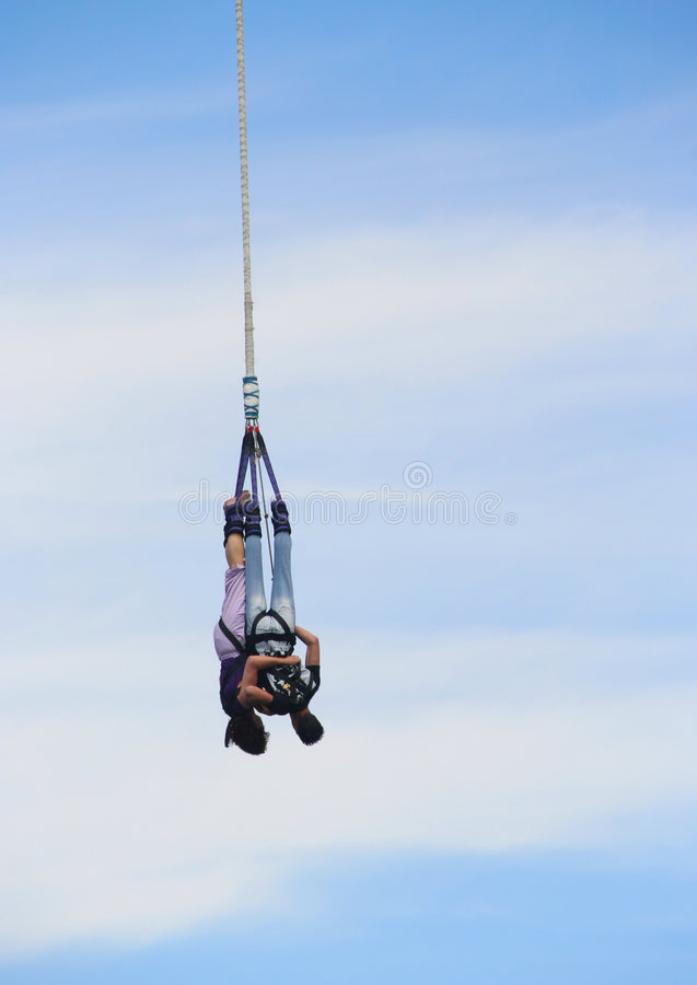 Bungy Couple royalty free stock photo