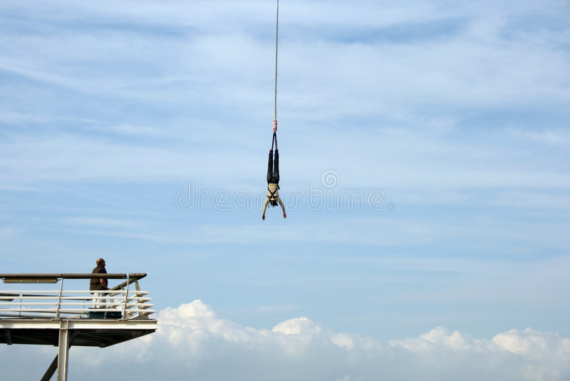 Bungy jumper royalty free stock image