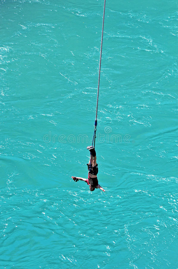 Bungy Jumping, Queenstown, NZ. Bungy jumping in Queenstown, New Zealand royalty free stock images