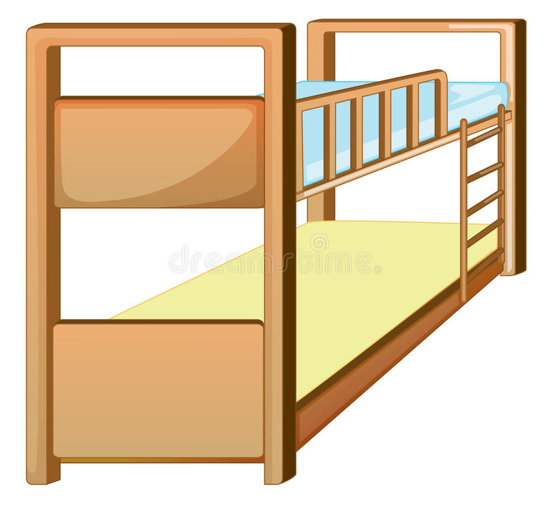 Download Bunk bed stock illustration. Image of white, path, empty - 33690972