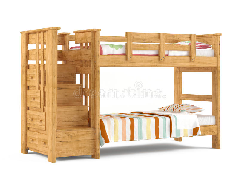 bunk bed isolated stock illustration illustration  baby