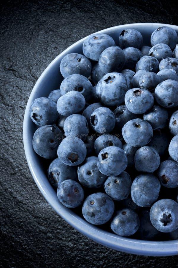 Bunke av blåbär royaltyfri fotografi