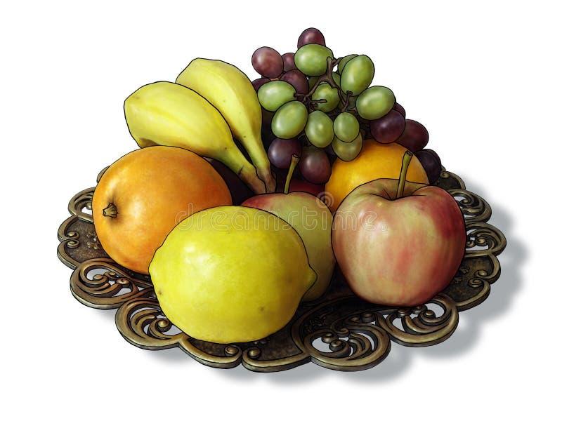 Bunke av frukt vektor illustrationer