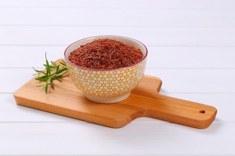 Bunke av röd rice royaltyfria foton