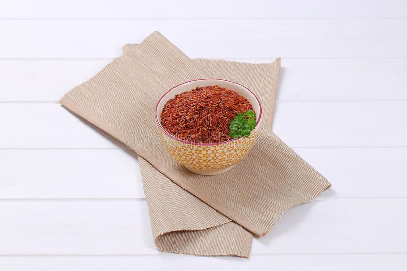 Bunke av röd rice royaltyfri bild