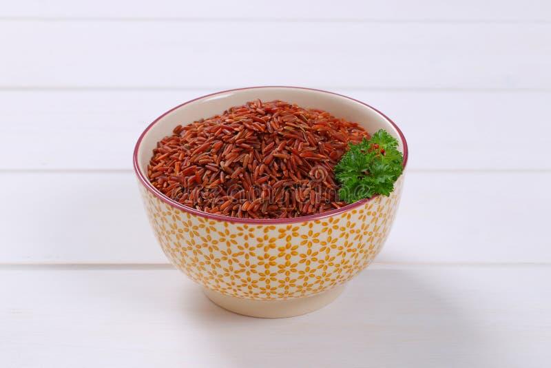 Bunke av röd rice royaltyfri foto