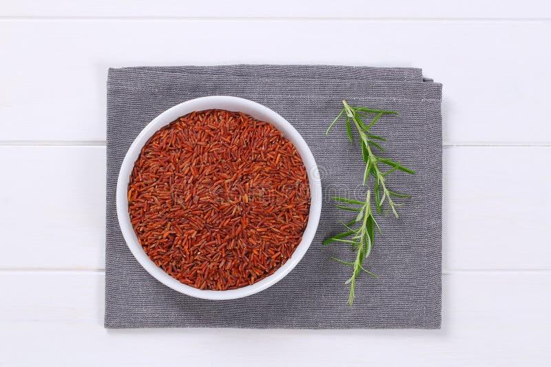 Bunke av röd rice arkivfoto
