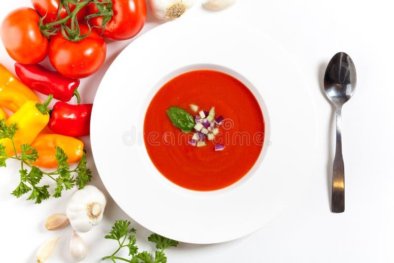 Bunke av tomatsoppa arkivfoton