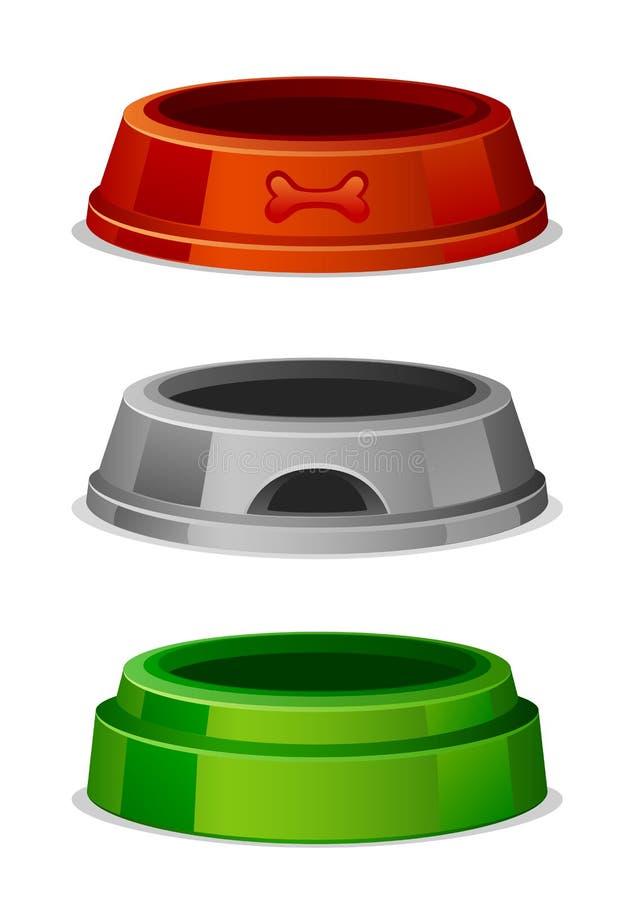 Bunke för älsklings- mat vektor illustrationer