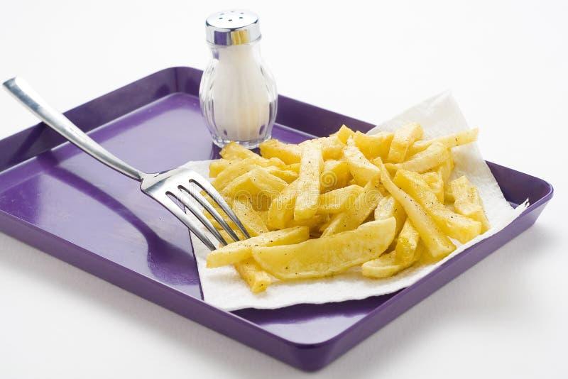 bunken chips hemlagat royaltyfria bilder