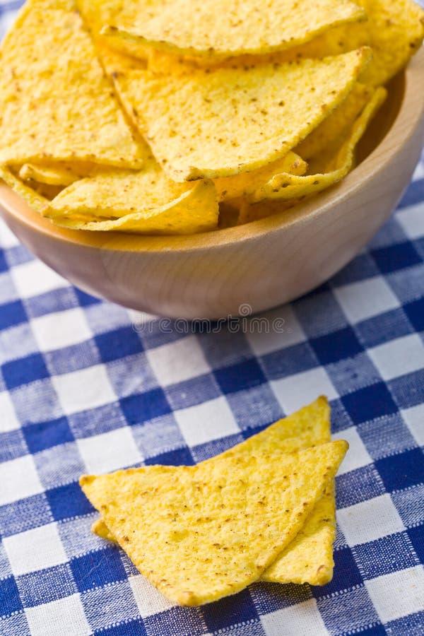 bunken chips nachos fotografering för bildbyråer