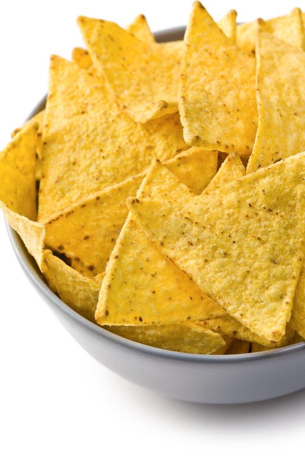 bunken chips nachos arkivfoton