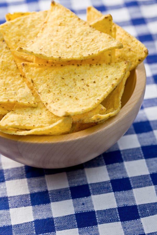 bunken chips nachos royaltyfri fotografi