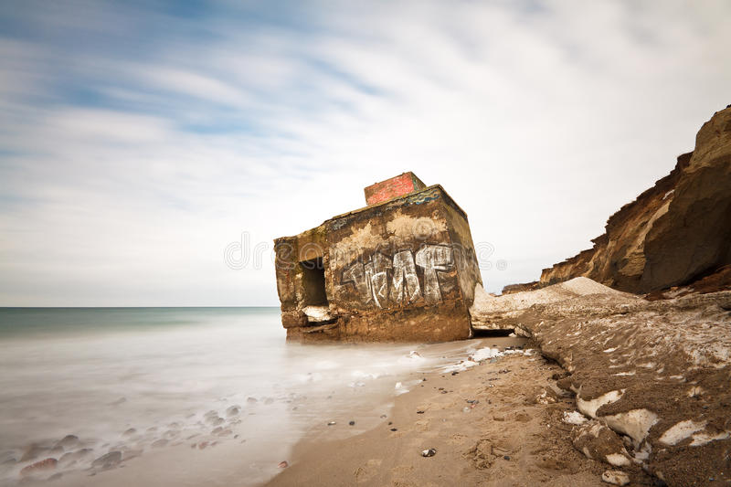 Download Bunker stock photo. Image of baltic, frozen, coast, clouds - 13214642