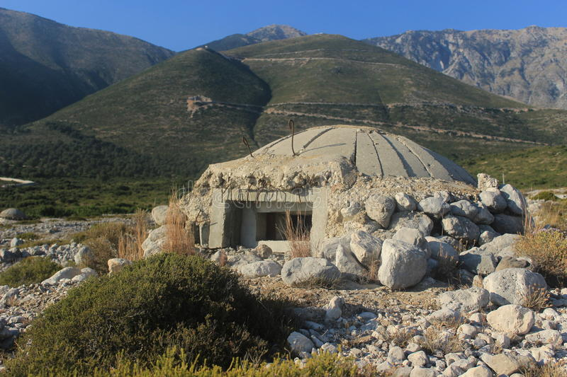 Bunker in Albania, Cold War royalty free stock images