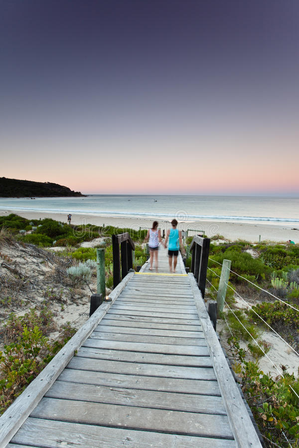 Bunker Bay boardwalk on Cape Naturaliste royalty free stock photography