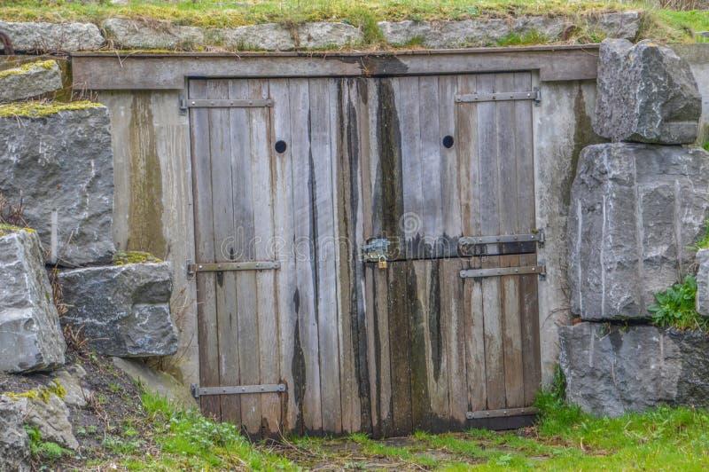Bunker bij het Nederland van Vondelpark Amsterdam stock afbeeldingen