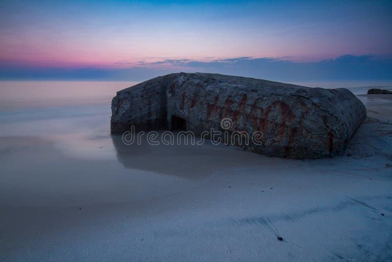Bunker bij zonsondergang royalty-vrije stock foto