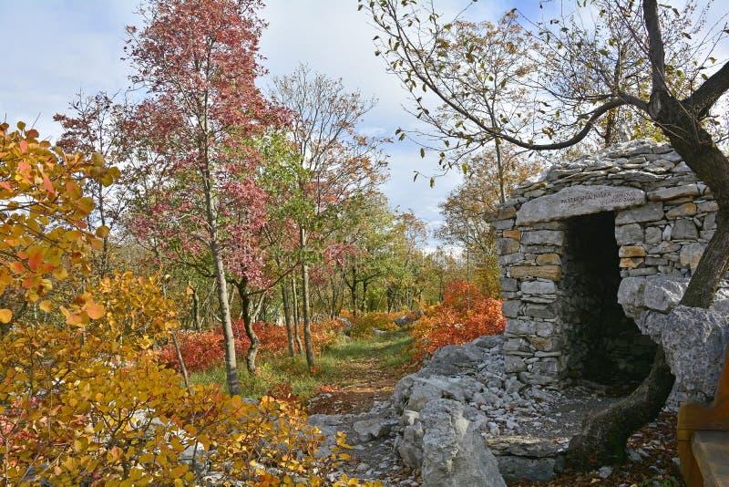 Bunker in Carso stock afbeeldingen