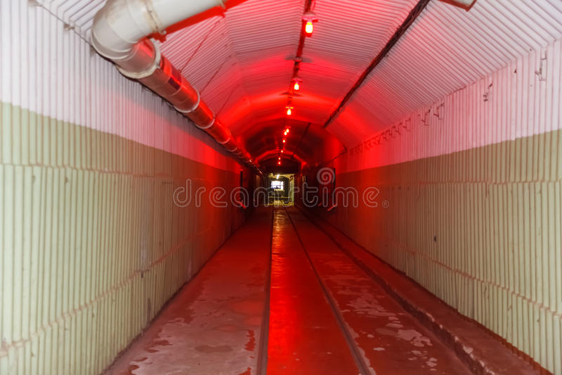 Bunker from Cold War, object an underground submarine base stock photo