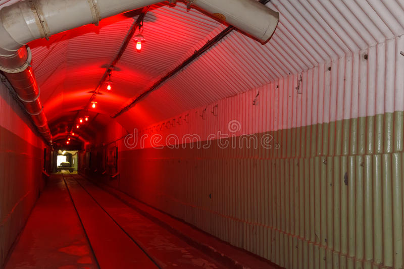 Bunker from Cold War, object an underground submarine base royalty free stock image