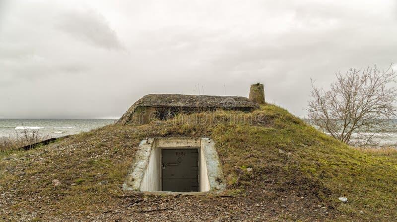 Bunker door Oceaan royalty-vrije stock foto's