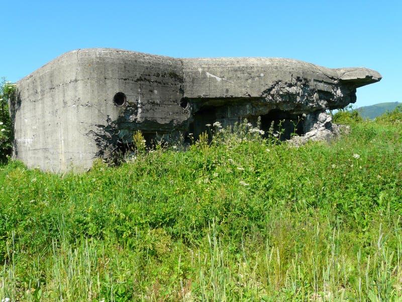 Bunker för fortyfications för WEGIERSKA-GORKA-ZABNICA-värld krig II royaltyfria foton