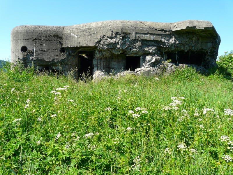 Bunker för fortyfications för WEGIERSKA-GORKA-ZABNICA-värld krig II arkivbild