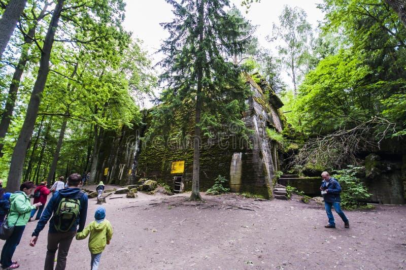 Bunker för sist för Adolf Hitler ` s fotografering för bildbyråer