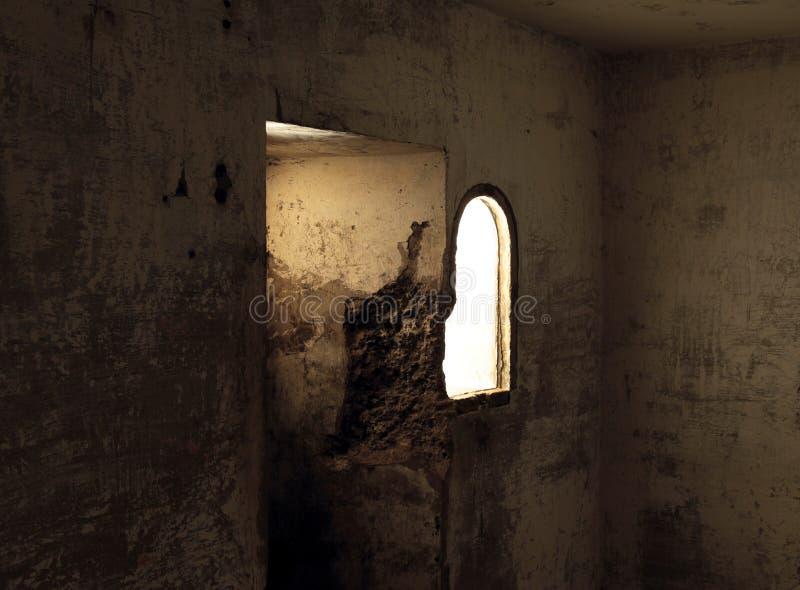 Bunker-Fenster stockbilder