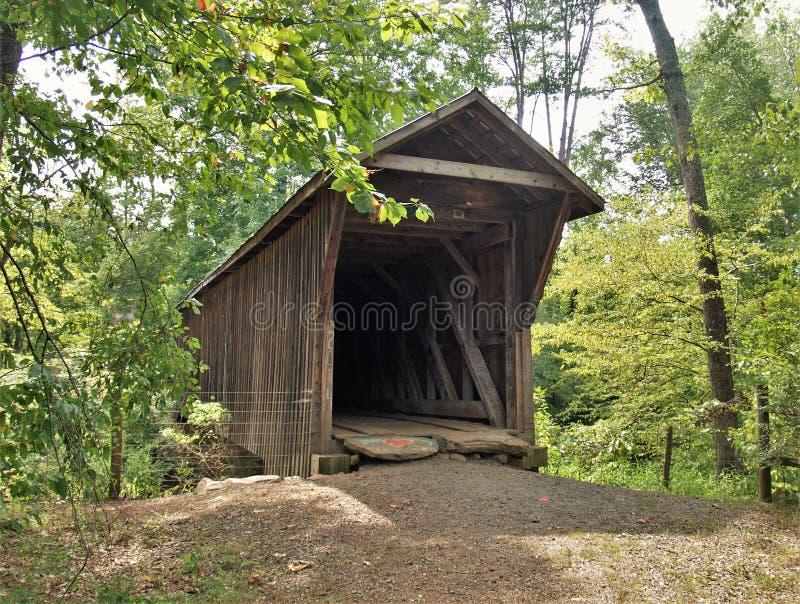 Bunker Hill Covered Bridge stock images