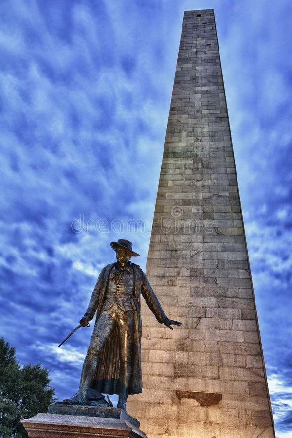 The Bunker Hill Monument Stock Image