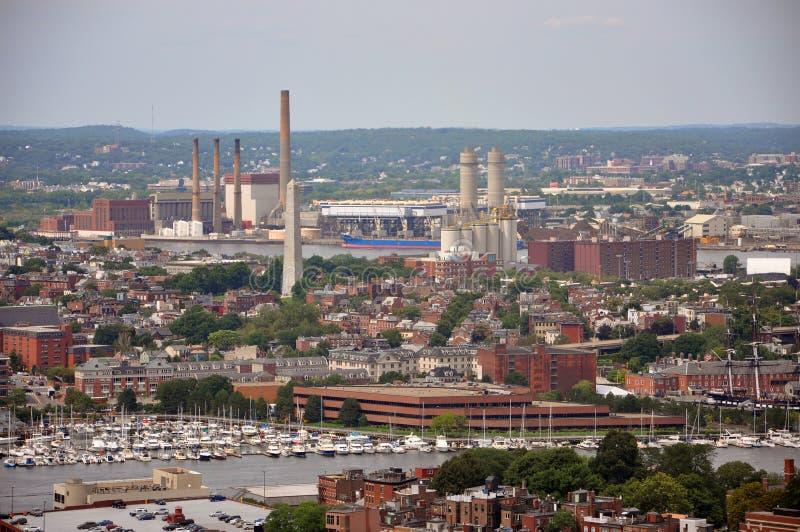 Bunker Hill Monument in Charlestown, Massachusetts. USA stock photo