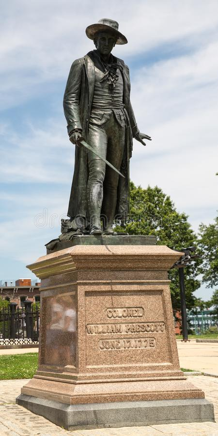 Bunker Hill Monument on Freedom Trail in Boston stock photo