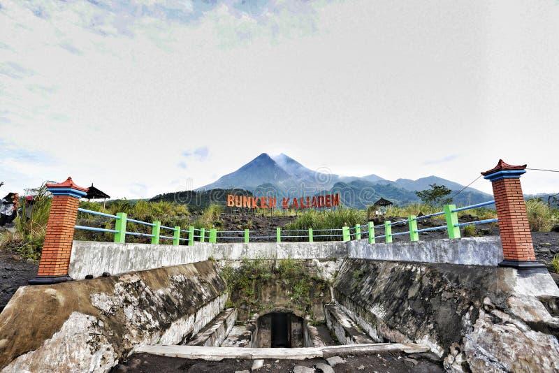 Bunker Kaliadem, Mount Merapi, Yogyakarta, Indonesia royalty free stock images