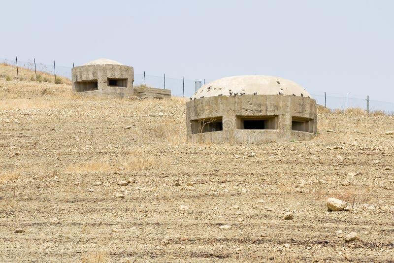Bunker in Licata fotografie stock libere da diritti
