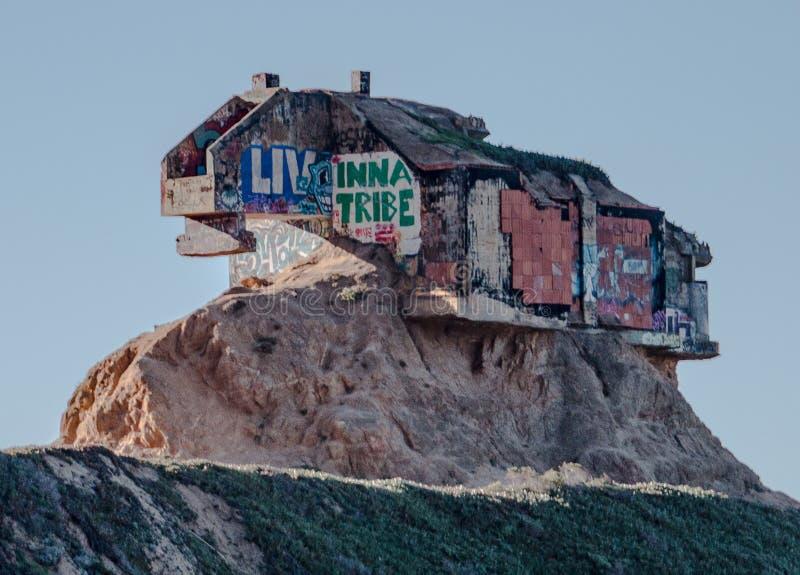 Bunker nästan San Francisco för glidbana för jäkel` s royaltyfri bild