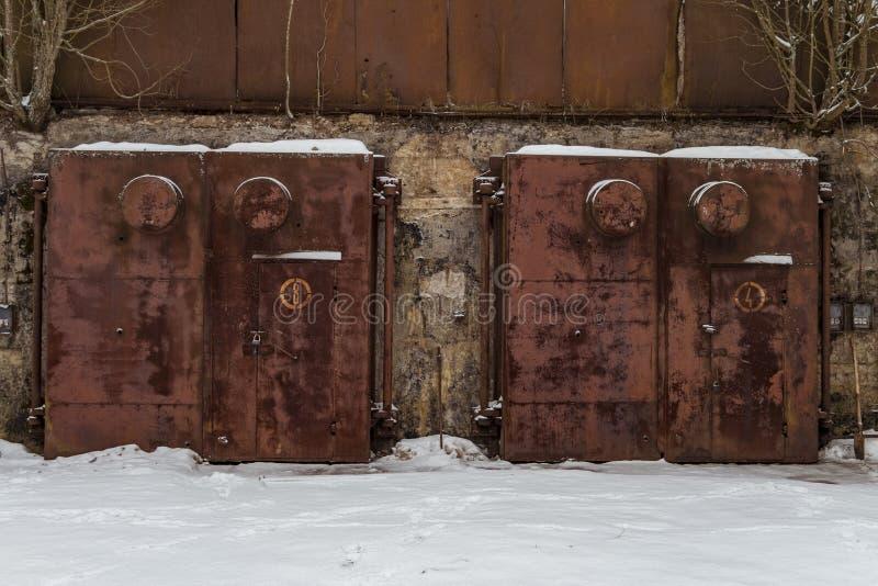 Bunker nucleare fotografia stock