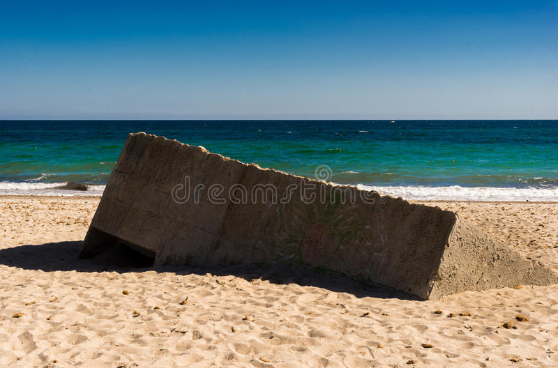 Bunker in the sand royalty free stock photos