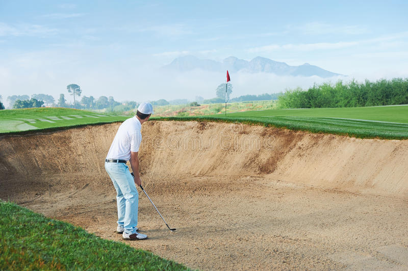 Download Bunker shot stock photo. Image of play, golf, action - 36517088