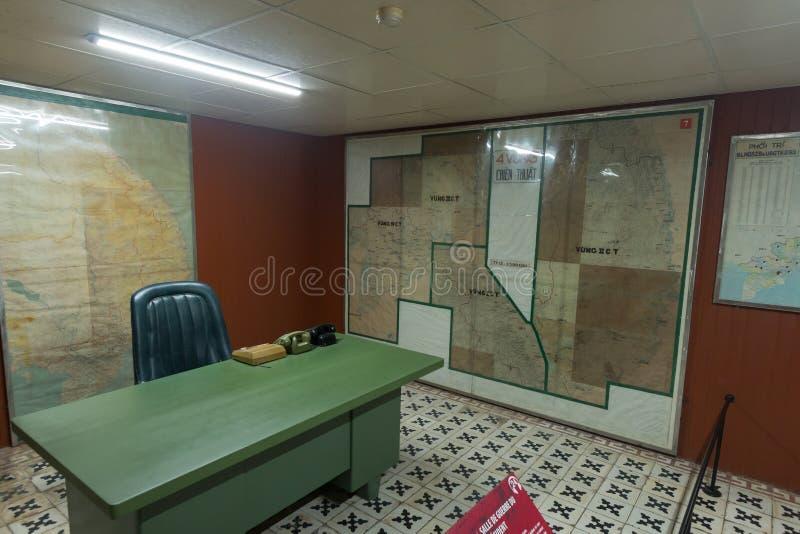 Bunker sotterraneo usato dal governo durante la guerra del vietnam immagini stock libere da diritti