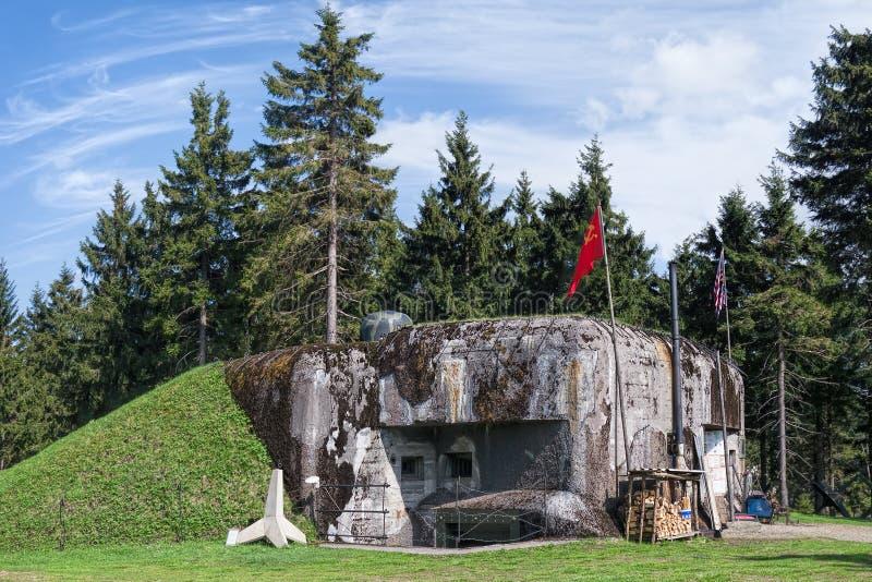 Bunker van tweede wereldoorlog stock afbeelding