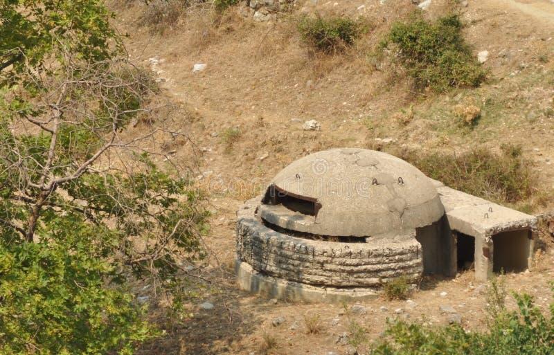 bunkerbetongmilitär arkivbilder
