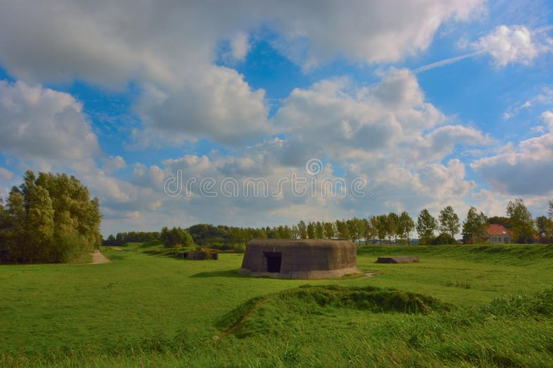 Bunkers of the first and second World war in Ostend Belgium. Abandoned and old Bunkers of the first and second World war in Ostend Belgium stock photography