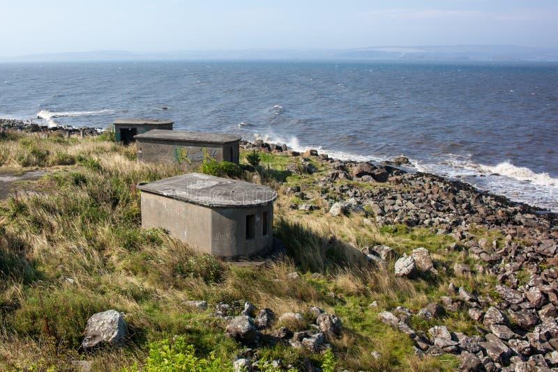 Bunkers. WWII bunkers on Crammond Island, Edinburgh, Scotland royalty free stock photography