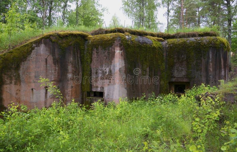 Bunkier od Druga Wojna Światowa Hanko, Finlandia zdjęcia stock